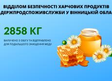 Стоп фальсифікат: на Вінниччині Держпродспоживслужба вилучила з обігу 2858 кг меду